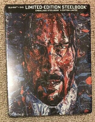John Wick: Chapter 3 - Parabellum SteelBook (Blu-ray+DVD) NEW, Sealed