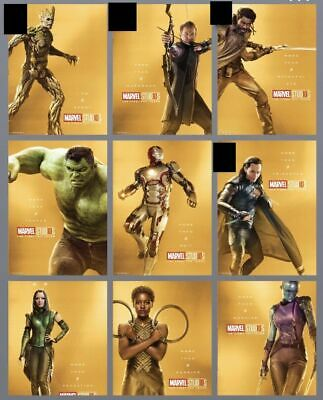 Topps MARVEL COLLECT DIGITAL TEN 10 YEARS GOLD CHARACTER POSTERS 30 CARD SET