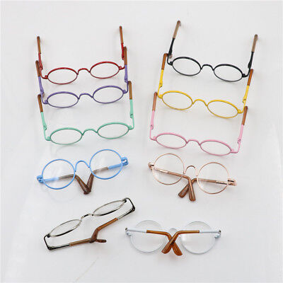 Doll Round Gold Frame Lens Glasses for Doll Accessories Parts Creative GiftsTO