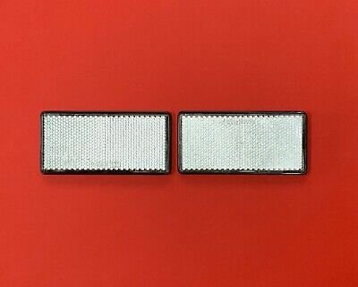 2 x Clear Rectangle Reflectors RADEX Self Adhesive 103mmx51mm Fence/Post/Drives