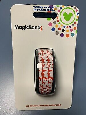 ❤️ New Nib Disney Parks Timeless Minnie Mouse Font Red Magicband Magic Band 2