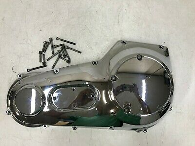 2004 Harley Heritage Softail Chrome Outer Primary Clutch Cover Housing Case