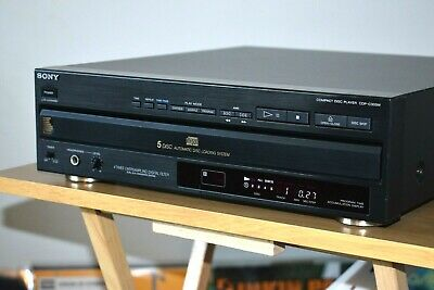 Sony CDP-C305M Multi-Play CD Player 5-Disc Changer Hi-Fi Separate MADE IN FRANCE