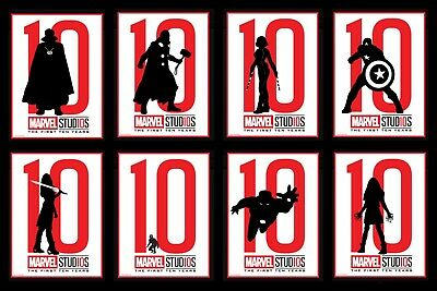 Topps MARVEL COLLECT DIGITAL CARD THE FIRST TEN 10 YEARS SILHOUETTES 8 CARD SET