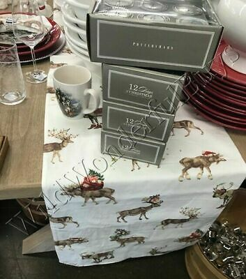 Pottery Barn Silly Stag Table Runner 18x108L Reindeer Christmas Deer New
