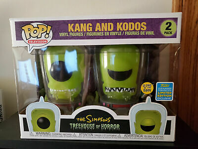 **IN HAND* SDCC Summer Con EXCLUSIVE Funko Pop! The Simpsons Kang and Kodos GLOW