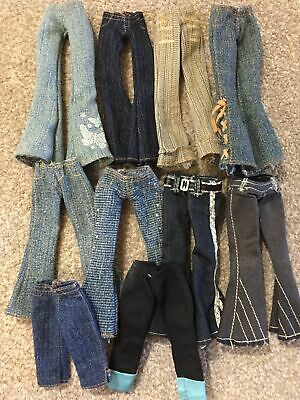 """Bratz Doll Clothes - Bundle of 10 Pairs Jeans for 10"""" Girl Dolls inc Rock Angelz"""