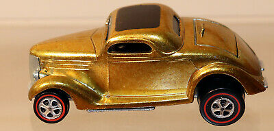 Dte 1969 Hot Wheels Redline # 6253 Metallic Gold Classic '36 Ford W/Black Int