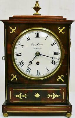 Sublime Antique English London Inlaid Mahogany Fusee Step Top Bracket Clock