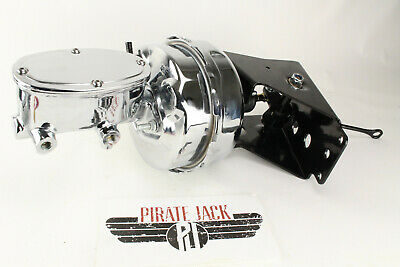 """66-77 Ford Bronco 9"""" Dual Power Brake Booster & Master Cylinder Chrome"""
