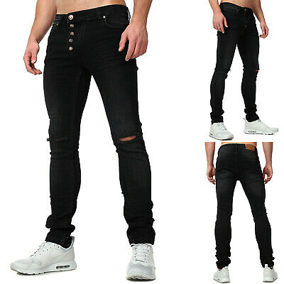 HERREN JEANS SLIM Fit Hose Denim Stretch Übergröße W28 W44