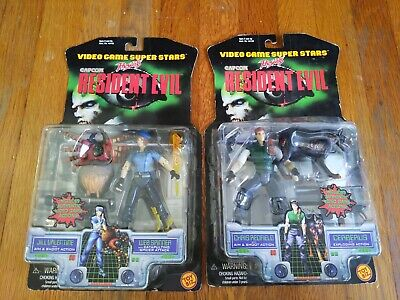 Resident Evil Chris Redfield And Jill Valentine Capcom 1998 Action Figure