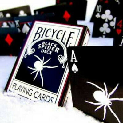 Magic Makers Bicycle Black Spider Deck New Easy Instructions