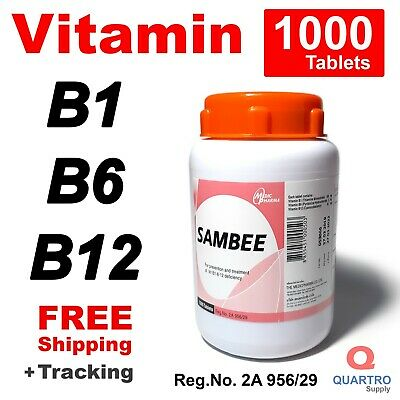 1000 Tablets Vitamin B complex B1 B6 B12 for Nervous System - Free Shipping