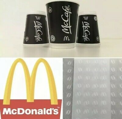 120 X McDonalds Style Coffee Bean Loyalty Stickers     31/12/2020 exp     McCafe