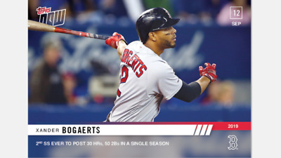 2019 TOPPS NOW CARD BOSTON RED SOX XANDER BOGAERTS #837 2nd SS 30 HRs 50 2Bs