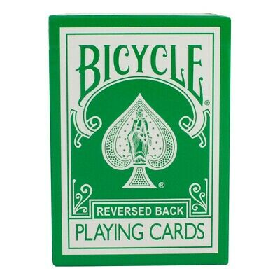 Magic Makers Reversed Back Green Bicycle Deck 2nd Gen