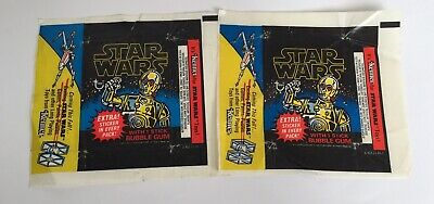 Vintage 1977 Star Wars Topps Trading Card Wax Wrappers Kenner Series 1 Blue Card