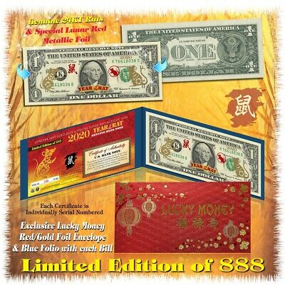 Limited Edition * SOLID GOLD HOLOGRAM Legal Tender US $1 Bill Currency w//Folio