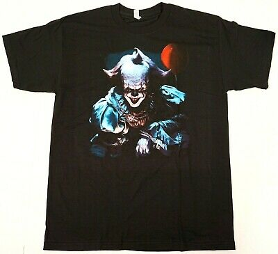 PENNYWISE T-shirt IT Horror Movie Clown Tee Men's New