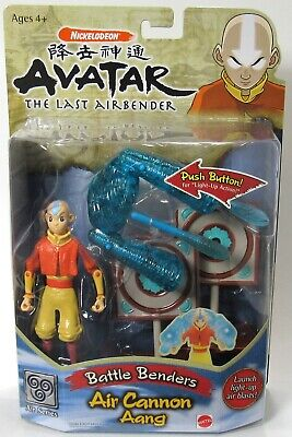 New Sealed Mattel Avatar The Last Airbender Battle Benders Air Cannon Aang 2006