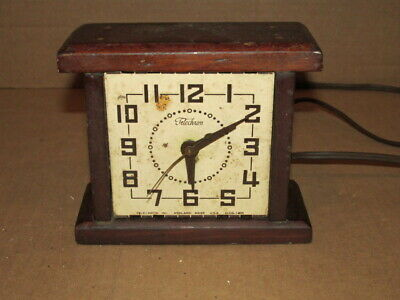 Vintage Wood Telechron O-CO-1 406 Electric Clock Parts or Repairs FC