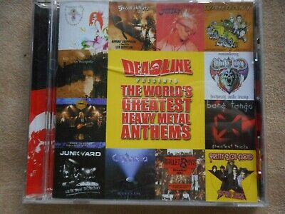 "Various Artists ""Deadline"" Heavy Metal Anthems Cd Warrant L.a. Guns Jetboy Union"