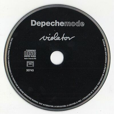 "Depeche Mode ""Violator"" Ultra Rare French Cd / Dave Gahan . Martin L. Gore"