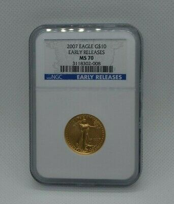 2007 1/4 oz Gold American Eagle $10 MS 70 NGC Early Release