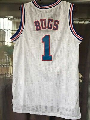 Bugs Bunny Jersey #1 Space Jam Jersey Tune Squad Looney Toones Jersey -4dayship