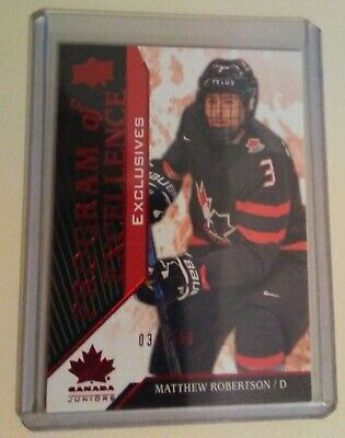 Matthew Robertson 2019 UD Team Canada #135 Program of Excellence EXCLUSIVES /150