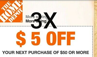 X3 TODAY ONLY Home Depot HD $5 Off $50 In-Store - ONLY $0.99! NO RESTRICTIONS!
