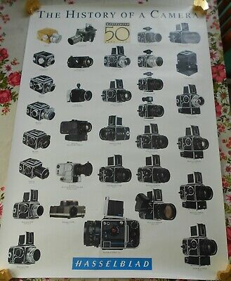 History of a Camera Hasselblad Cameras Family Tree Vintage Poster 70 x 100cm '91
