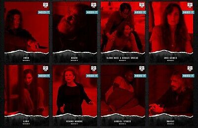 8x UNSTEADY Wave 2 RED SET + DARYL AWARD Topps WALKING DEAD DIGITAL Card Trader