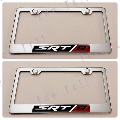 HELLCAT SUPERCHARGED Stainless Steel License Plate Frame Rust Free W// Bolt Caps