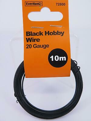 10M x 2mm Black Hobby Wire Everhang 72800