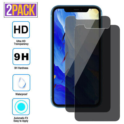 For iPhone 11 Pro Max XS XR 7 8 Anti-Spy Privacy Tempered Glass Screen Protector