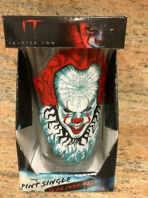 """New """"IT 2"""" BUNDLE:  Cinemark Pennywise Pint Glass + Poster - Free Shipping!"""