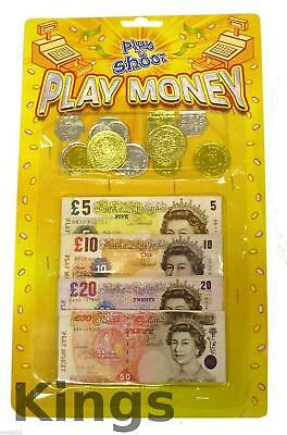 Play Money Set Kids Role Play Toy Notes And Coins Pretend Play Money Bank £