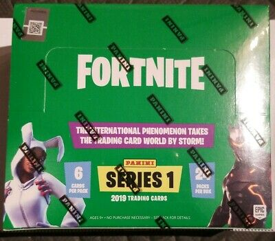 1 2019 Panini Fortnite Series 1 Trading Cards Factory Sealed Hobby Box