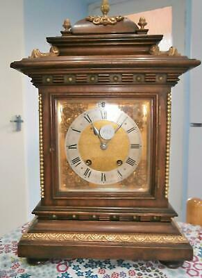 R.S.M. Mahogany Brass Mounted Ting Tang Bracket Clock in G.W.O.