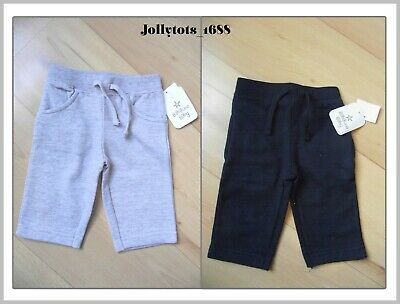 Baby Boys Girls Casual Joggers Navy Blue / Grey Soft Trouser Cotton Mix Bottoms