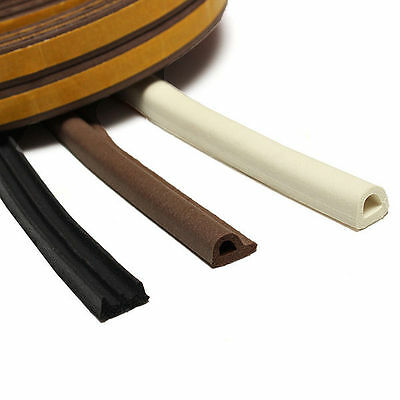 5M Window Excluding Draft Seal Strip Self Adhesive Rubber Roll E Tape Precious