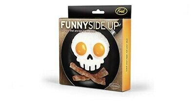 Funny Side Up Skull Egg Ring Silicone Mold Frame Fred and Friends New in Box