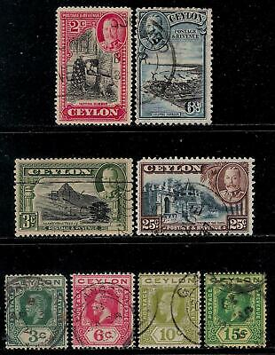 British Colony CEYLON 1911 - 1935 Old Stamps - King George V