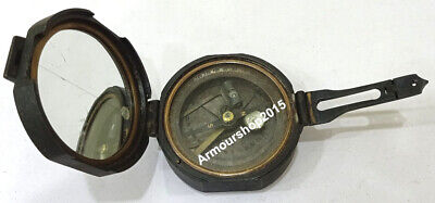 Vintage  Brass Antique Poem Compass Made For Royal Navy Nautical Compass