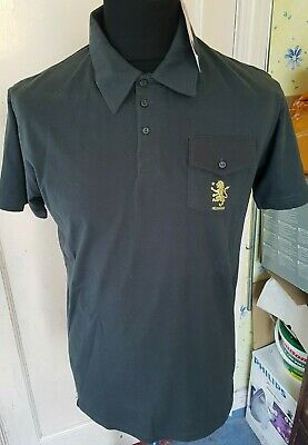 Mens Slim Fit Large Aston Villa Polo Top New With Tags Official Merchandise