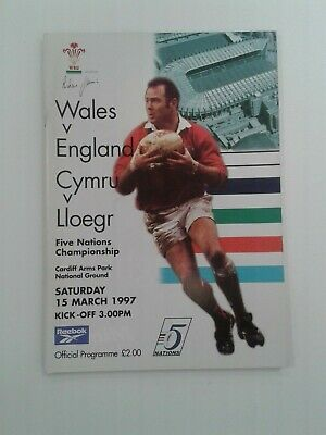 Wales v England 1997 Rugby Union Programme Excellent condition