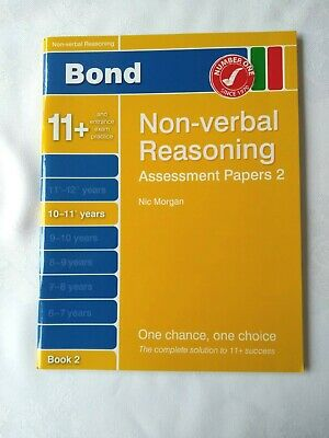 Bond Non-Verbal Reasoning Assessment Papers Book 2 10-11+ Years Exam Practice