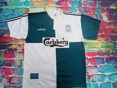D44 1995-96 Liverpool Away Shirt  XL Vintage Football Jersey